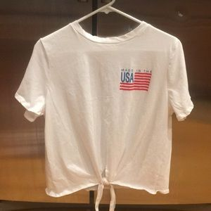 Nwot women's size large top made in usa